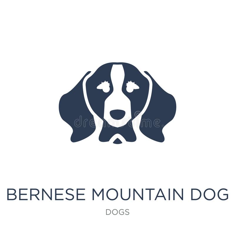 Bernese Mountain dog icon. Trendy flat vector Bernese Mountain d. Og icon on white background from dogs collection, vector illustration can be use for web and vector illustration