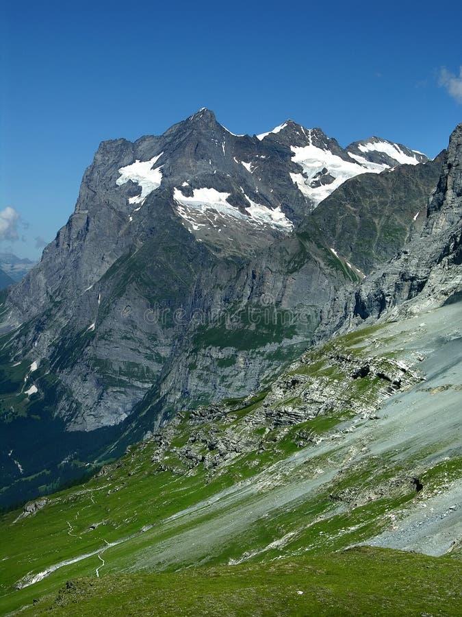Bernese Oberland Alps landscape in Switzerland royalty free stock photo