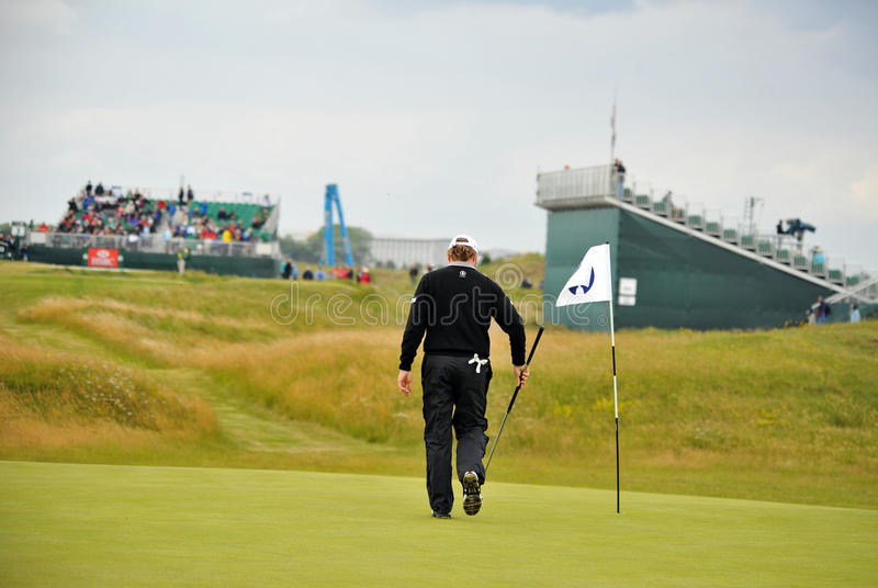 Bernhard Langer at the 2011 open royalty free stock image