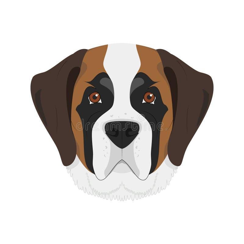 Bernhardiner-Hundevektorillustration vektor abbildung