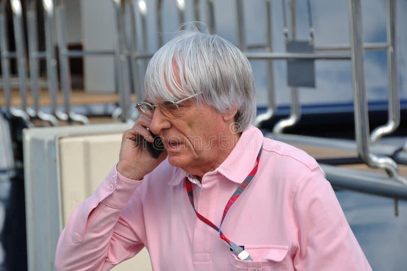 Bernie Ecclestone,公式1管理的上司 免版税图库摄影