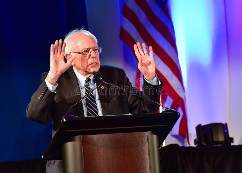 Bernie Sanders - Allen University photographie stock libre de droits