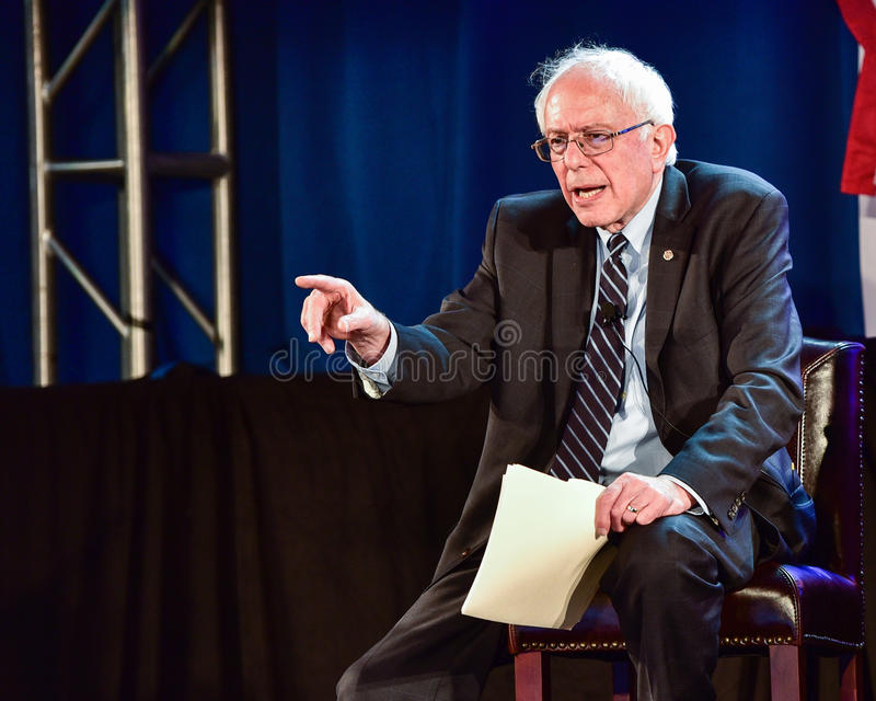 Bernie Sanders - Allen University immagine stock