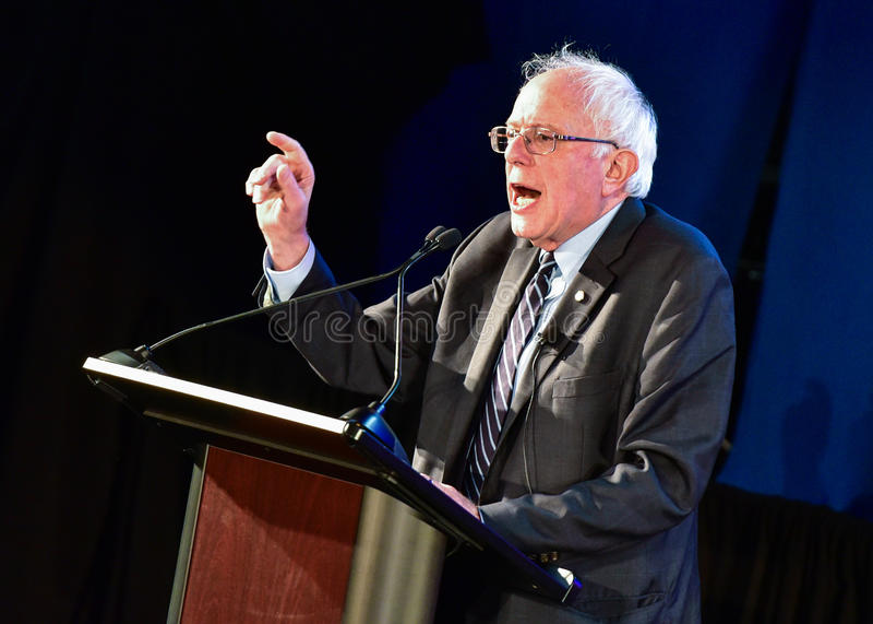 Bernie Sanders - Allen uniwersytet zdjęcie stock