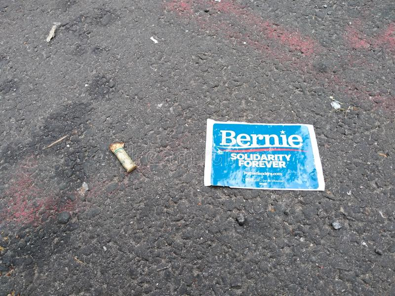 Bernie Sanders, American Presidential Candidate, Election, NYC, NY, USA royalty free stock photography