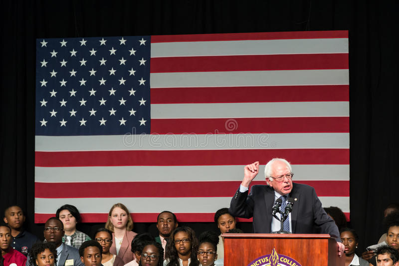 Bernie Sanders - Benedict College photographie stock