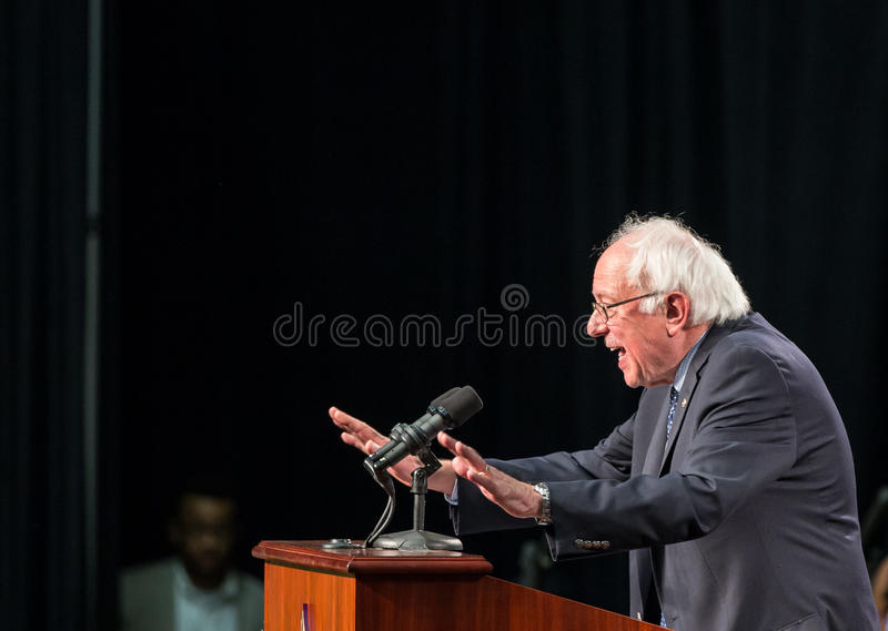 Bernie Sanders - Benedict College photo libre de droits