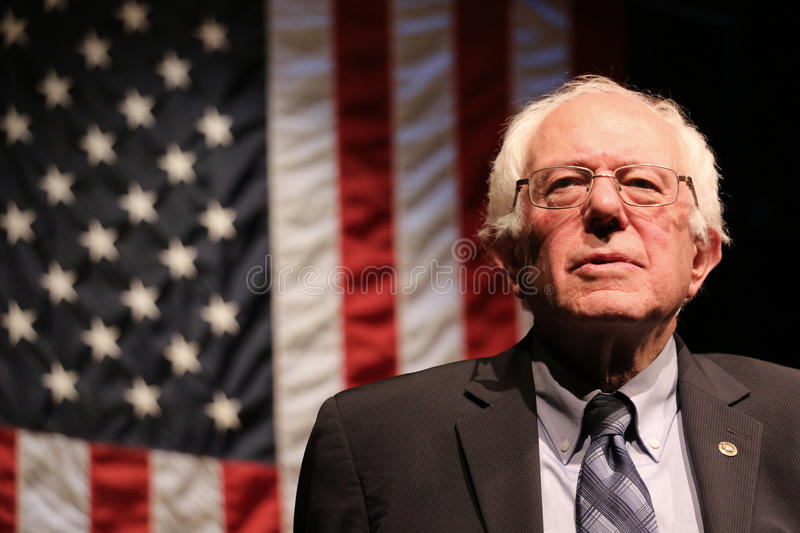 Bernie Sanders. Democratic presidential primary candidate Senator Bernie Sanders, listening to a question from the audience at an event in New Hampshire