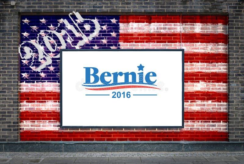 Bernie Sanders dla prezydenta royalty ilustracja