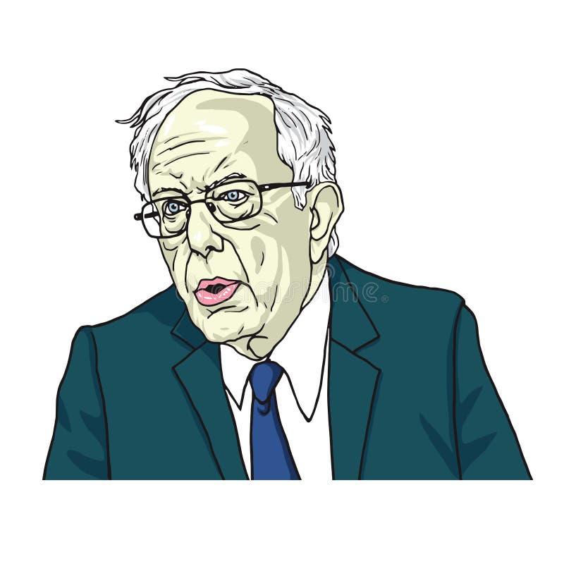 Bernie Sanders Portrait Cartoon Caricature Illustration de vecteur 24 juillet 2017 illustration de vecteur