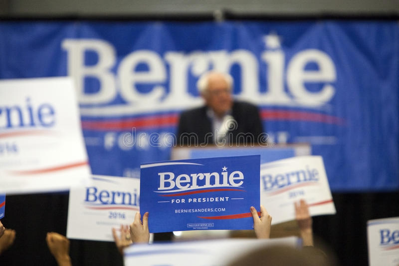Bernie Sanders Rally photographie stock