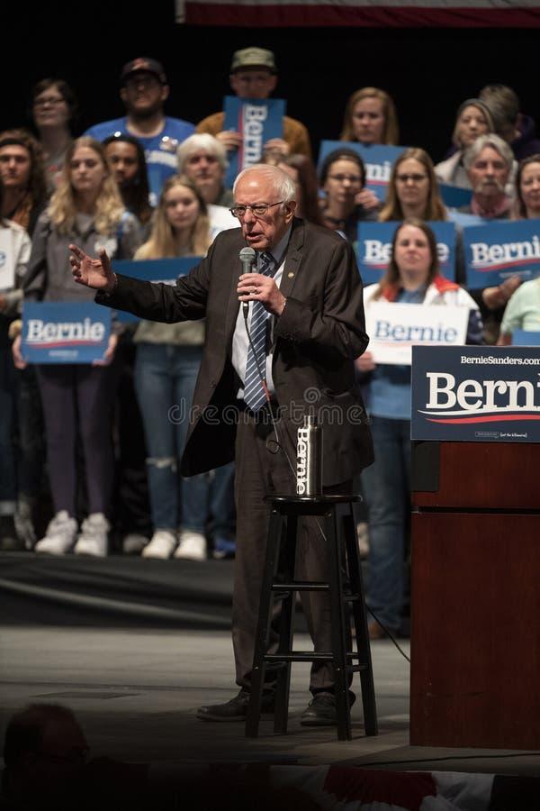 Bernie Sanders Rally em Saint Louis MO fotos de stock royalty free