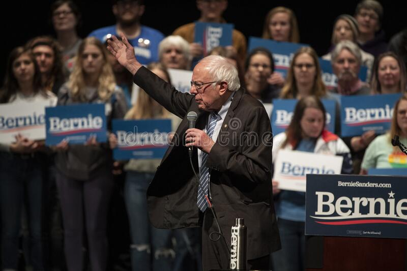 Bernie Sanders Rally em Saint Louis MO imagem de stock royalty free
