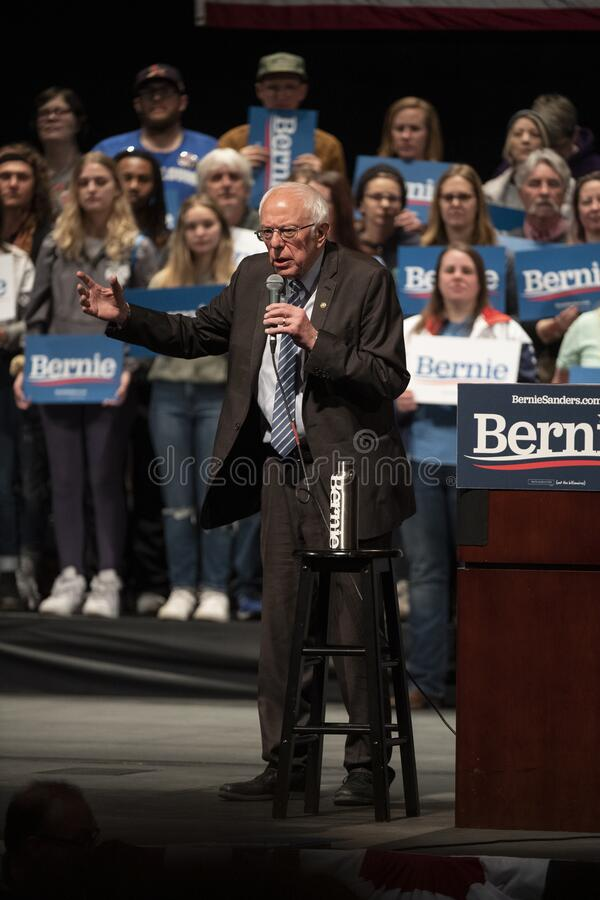 Bernie Sanders Rally i Saint Louis MO royaltyfria foton