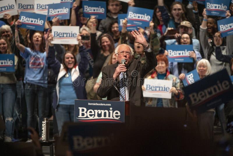 Bernie Sanders Rally i Saint Louis MO royaltyfria bilder