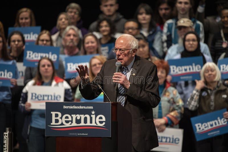 Bernie Sanders Rally i Saint Louis MO arkivfoto