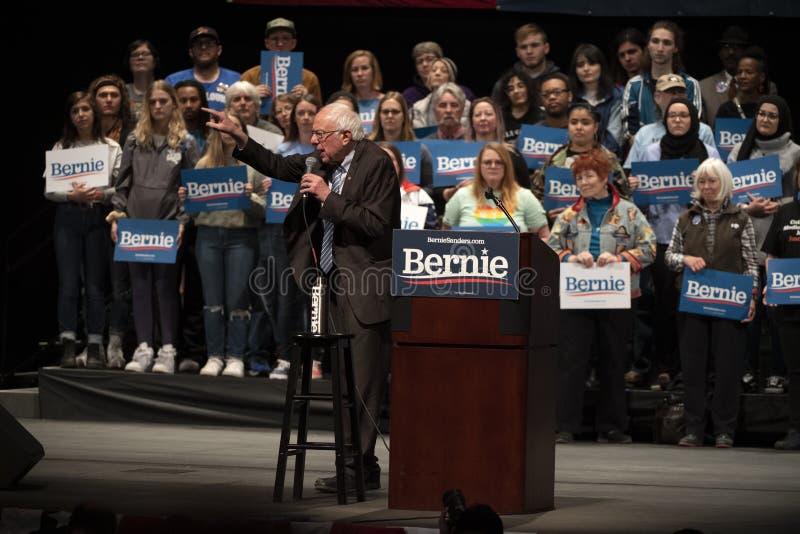 Bernie Sanders Rally in Saint Louis, MO stock photos