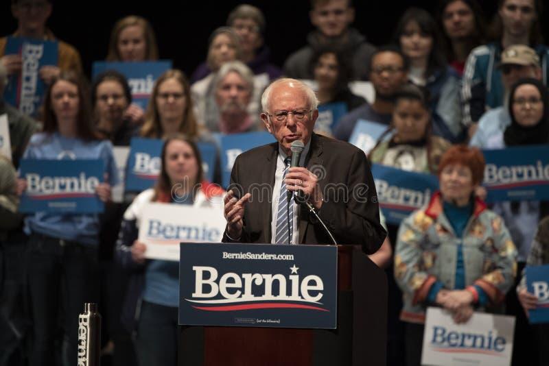 Bernie Sanders Rally in Saint Louis, MO royalty free stock photo