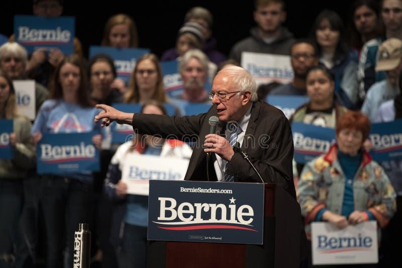 Bernie Sanders Rally in Saint Louis, MO stock images