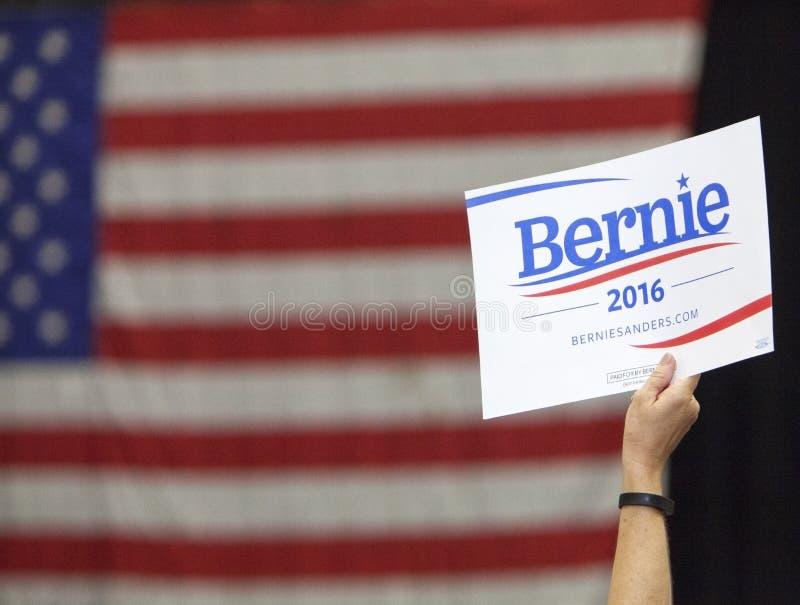 Bernie Sanders voor President Sign royalty-vrije stock foto