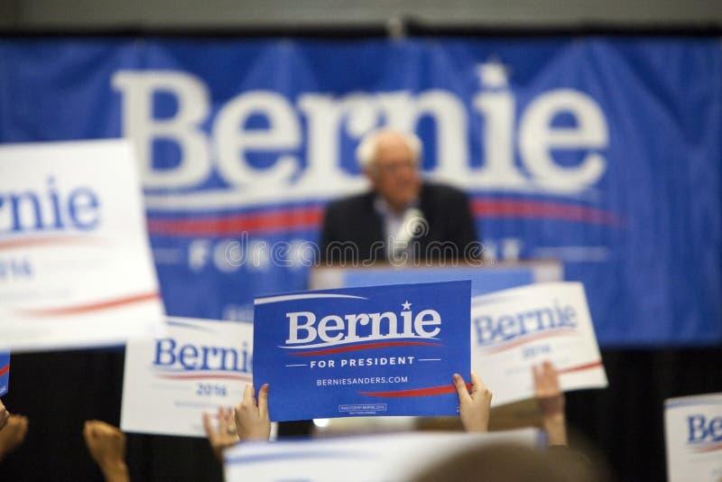 Bernie Sanders wiec fotografia stock