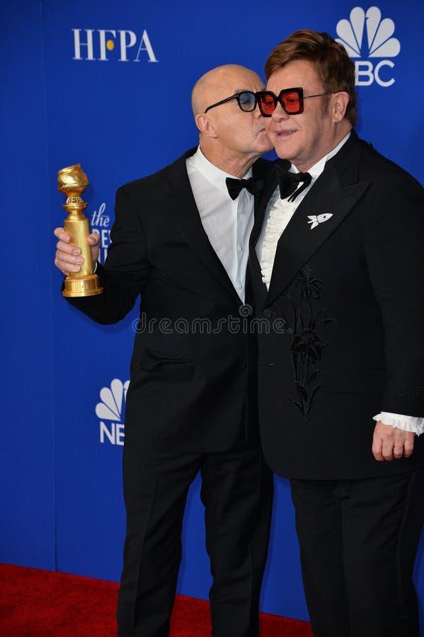 Bernie Taupin & Elton John stock photo