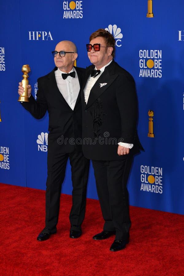 Bernie Taupin & Elton John royalty free stock photo