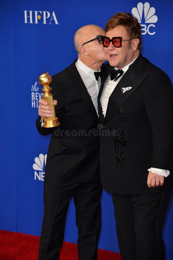 Bernie Taupin & Elton John royalty free stock photography