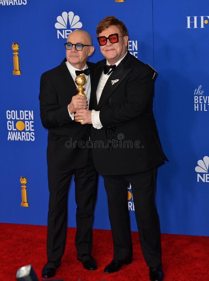 Bernie Taupin & Elton John stock photography