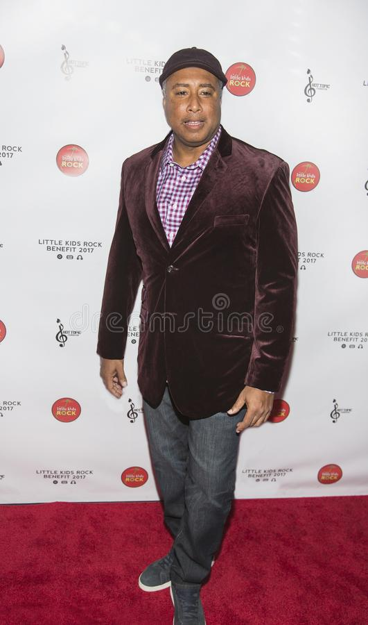 Bernie Williams. Former standout New York Yankees center fielder and gifted professional musician Bernie Williams arrives for the Little Kids Rock Gala at the stock images
