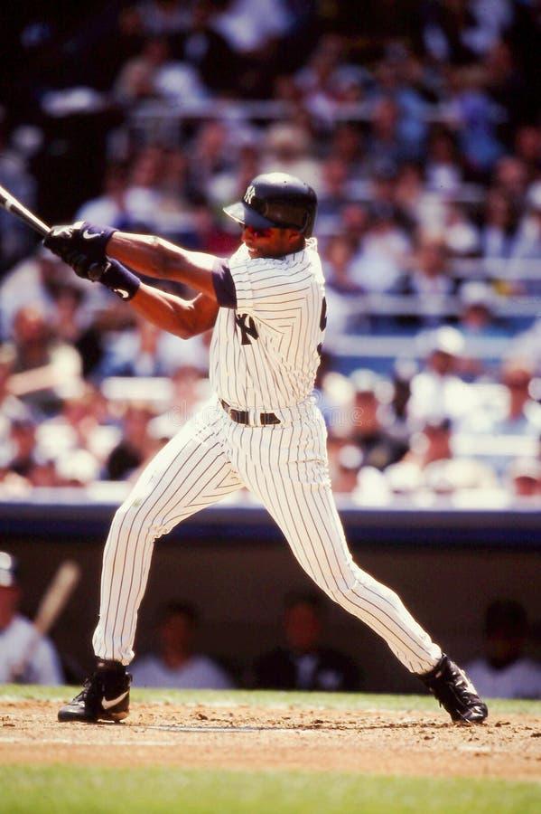 Bernie Williams New York Yankees stock photo
