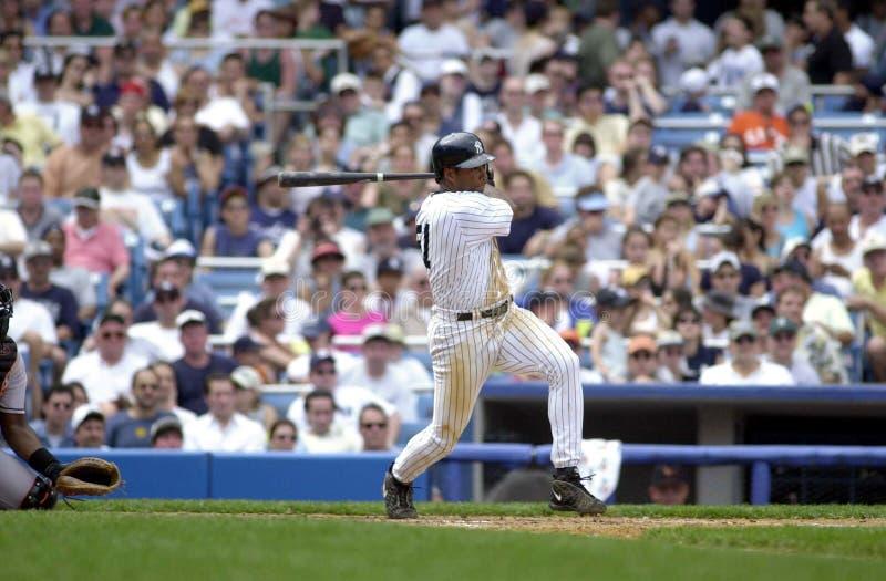Bernie Williams van de New York Yankees stock fotografie