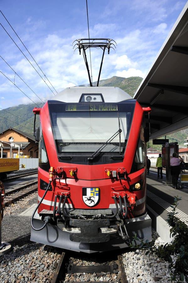 Bernina курьерское стоковая фотография rf