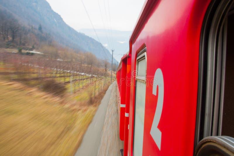 Bernina Express Train Stock Images