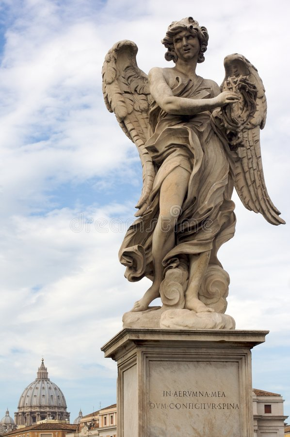 Download Bernini Angel stock photo. Image of statue, tiber, angelo - 7456372