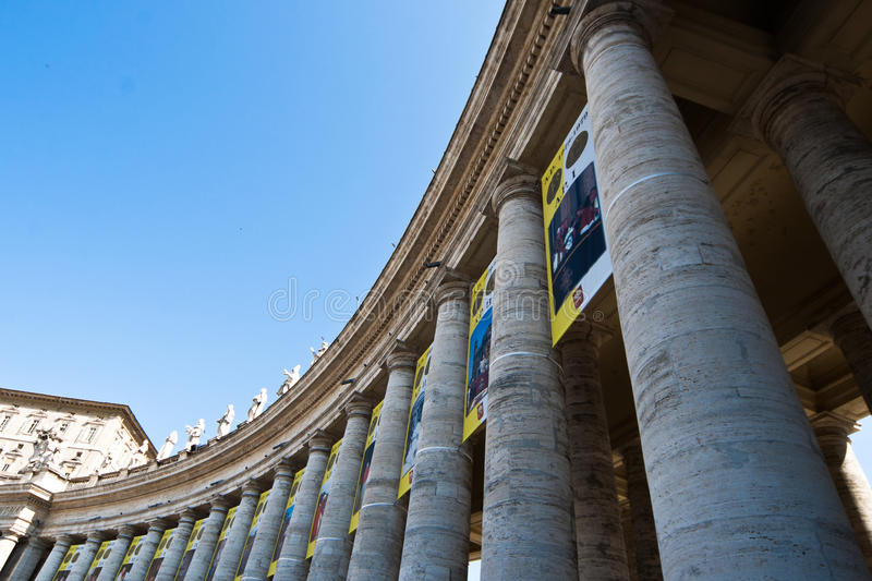 Download Bernini Collonade stock photo. Image of rome, collonade - 19814102