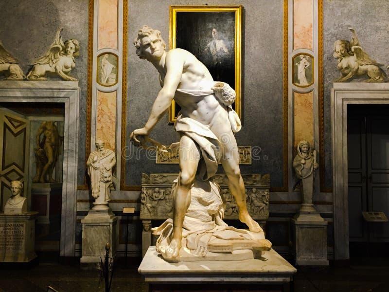 Bernini David Sculpture foto de archivo libre de regalías