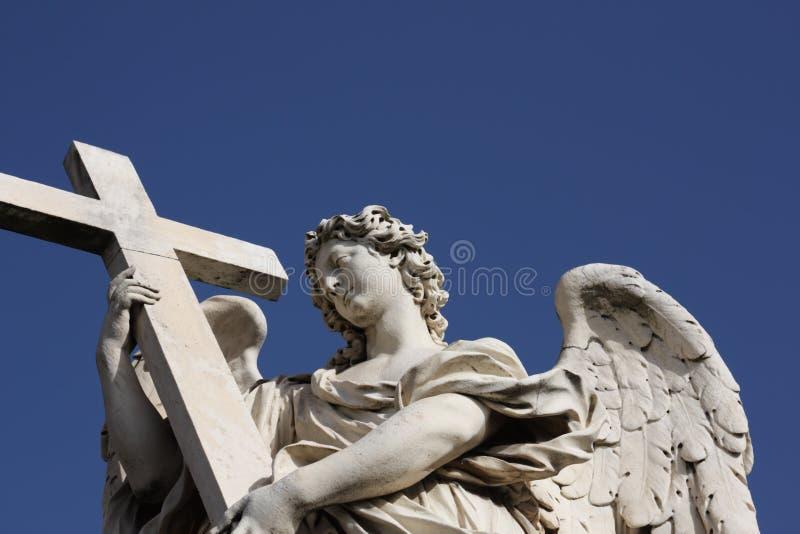 Bernini Engelsskulptur in Rom stockbild