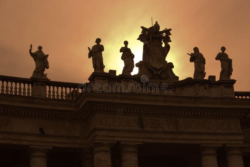 Bernini's Vatican Columns - Rome stock image