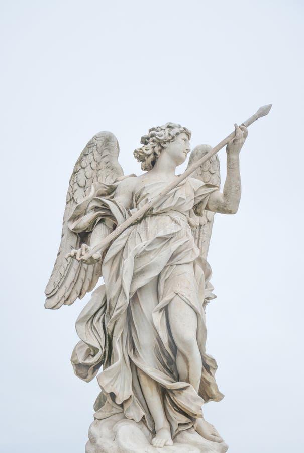 Bernini-Statue des Engels in Rom stockbild