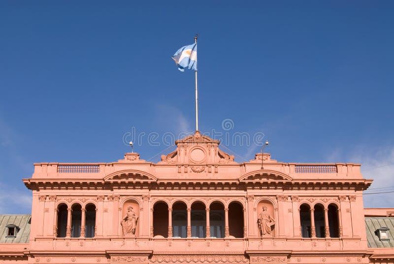 Beroemd Balkon in Casa Rosada royalty-vrije stock foto