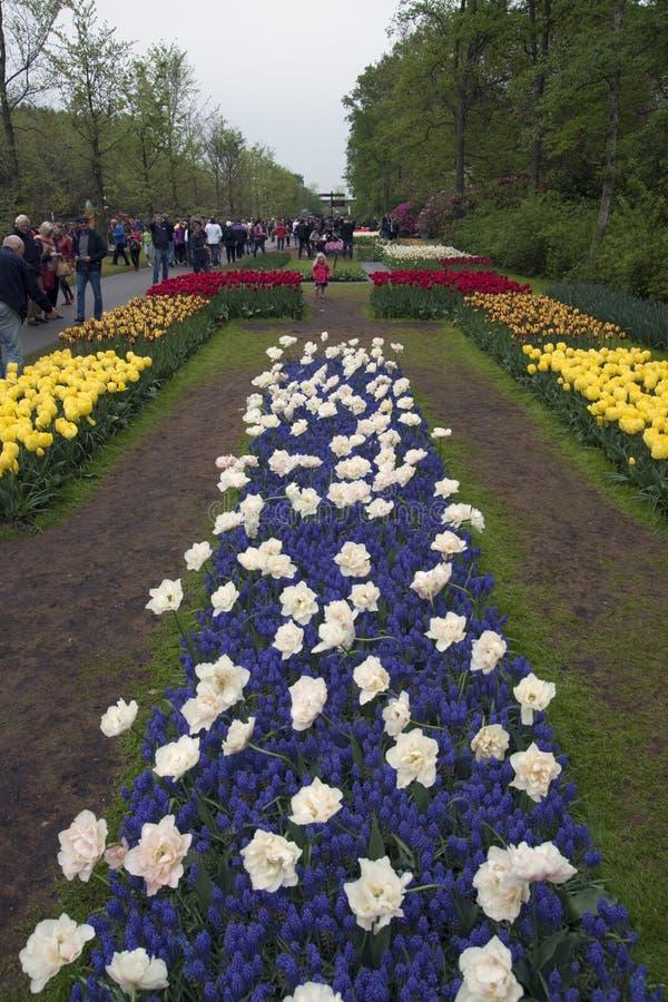 Beroemd bloempark stock foto