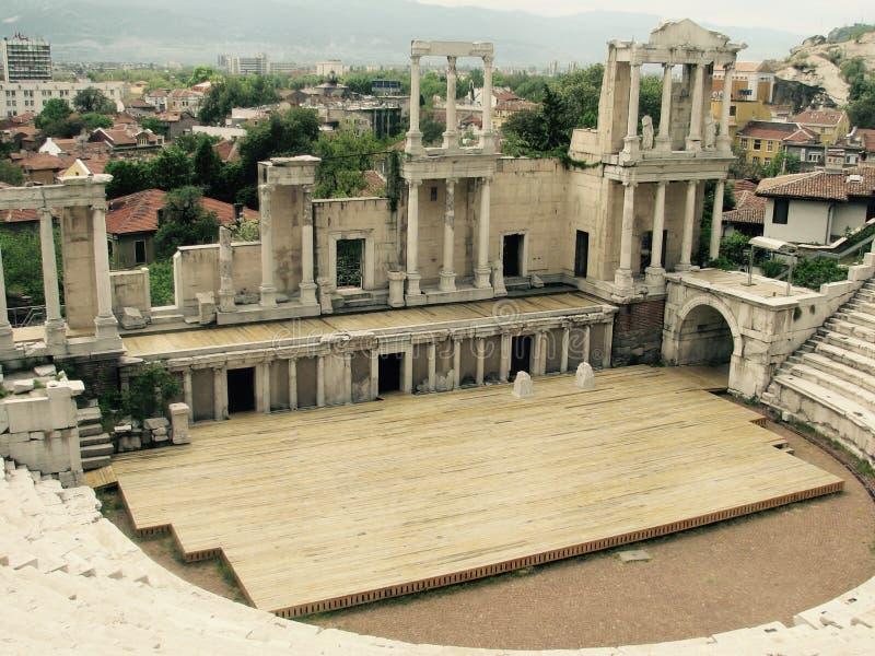 Beroemd en storied Roman theater van Plovdiv royalty-vrije stock foto