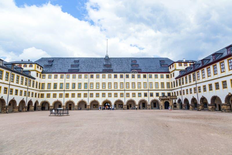 Beroemd Friedenstein-Kasteel in Gotha royalty-vrije stock foto's