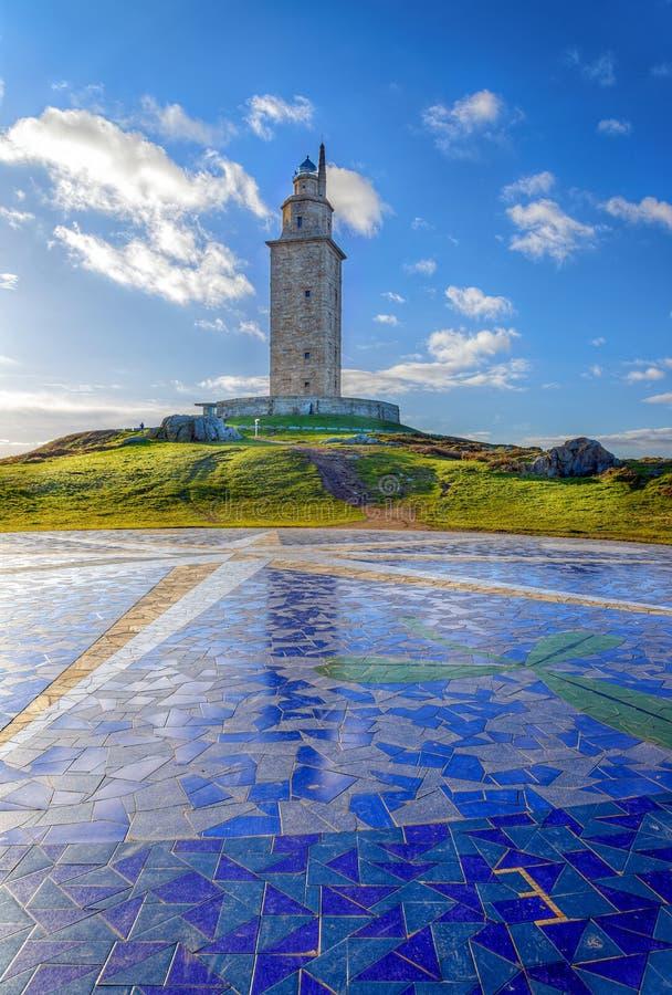 Beroemd Hercules Tower royalty-vrije stock afbeelding