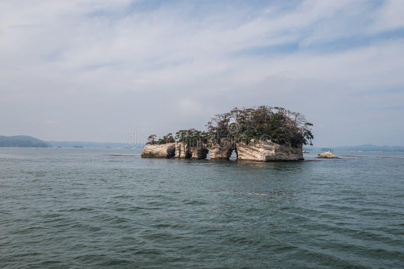 Beroemd Japans eilandje in Matsushima stock foto's