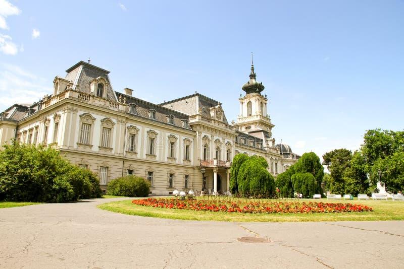Beroemd kasteel in Keszthely royalty-vrije stock fotografie
