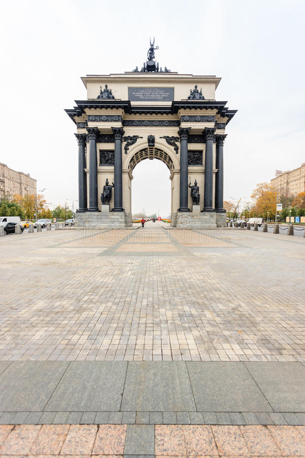Beroemd oriëntatiepunt van de stad Triomfantelijk van de herdenkings complexe `-Slag van Kursk ` royalty-vrije stock foto