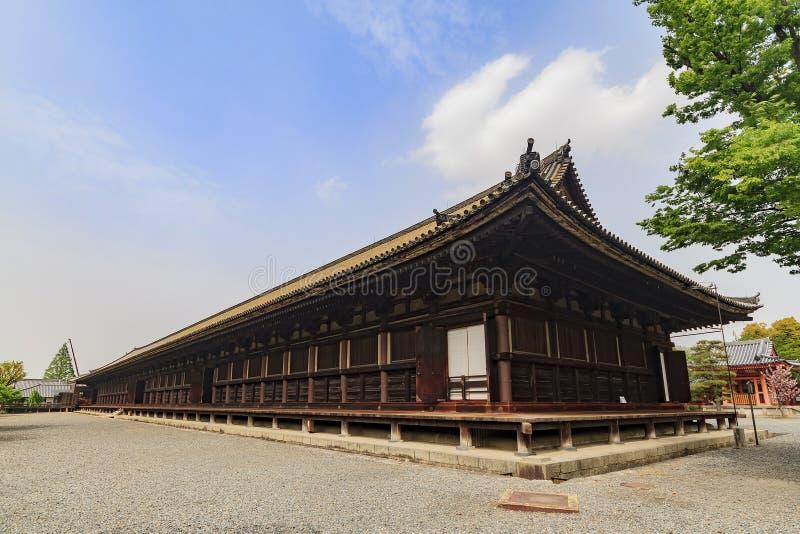 Beroemd sanjusangen-doet tempel royalty-vrije stock foto