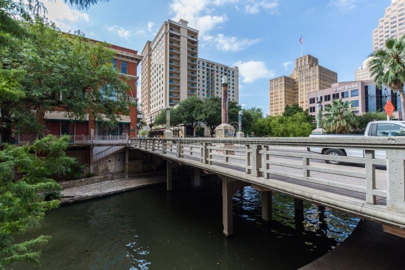 Beroemd Toneelsan Antonio River Walk in Texas royalty-vrije stock foto's